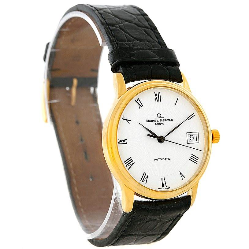 Baume Mercier Classima Automatic 18K Yellow Gold Watch MV045075 8160 SwissWatchExpo