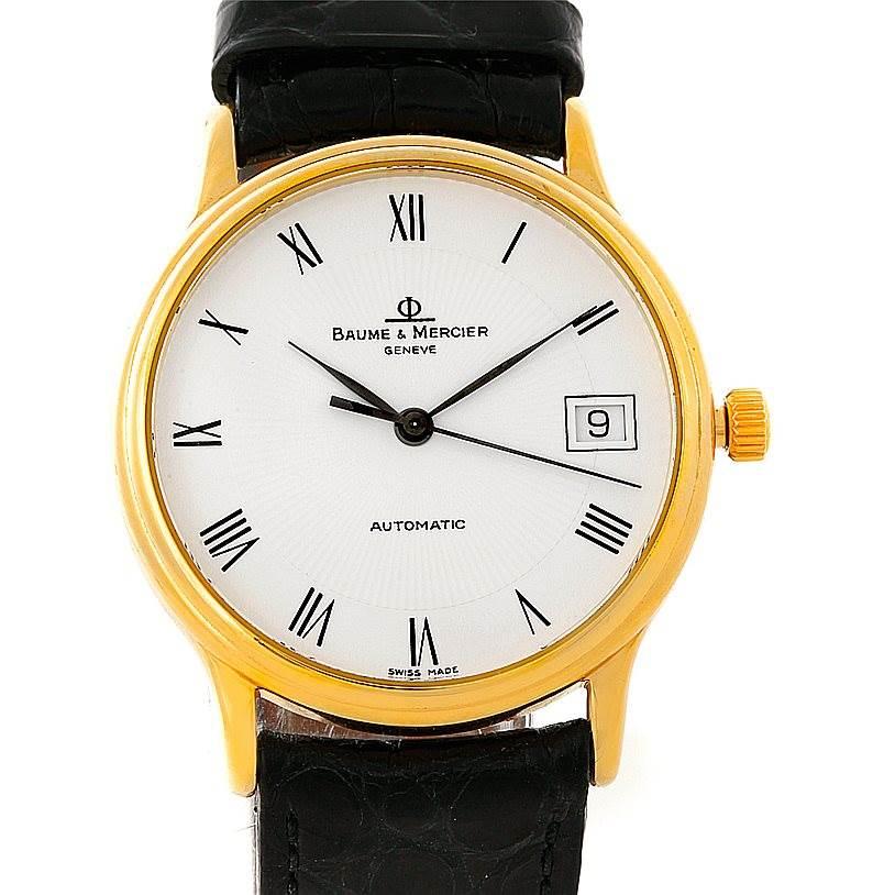 Baume Mercier Classima Automatic 18K Yellow Gold Watch MV045075 8160 SwissWatchExpo
