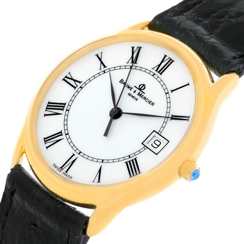 Baume Mercier Classima 14K Yellow Gold Mens Watch 95248 SwissWatchExpo