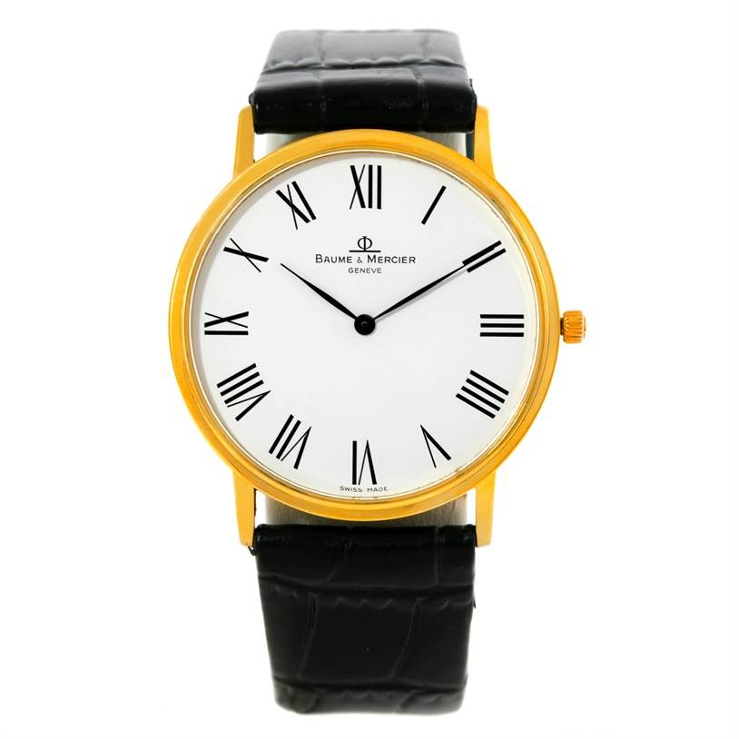 9010 Baume Mercier Classima 1830 Mens 18K Quartz Watch MV045088 SwissWatchExpo
