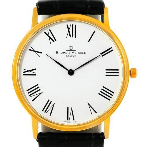 Photo of Baume Mercier Classima 1830 Mens 18K Quartz Watch MV045088