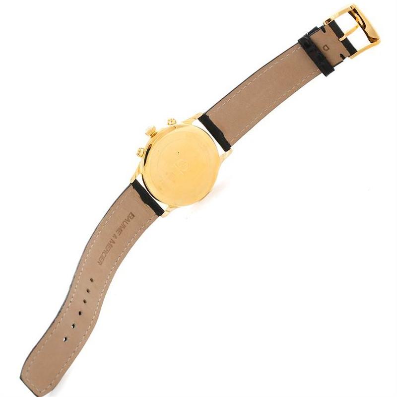 Baume Mercier Classima Mens 18K Yellow Gold Chronograph Watch SwissWatchExpo
