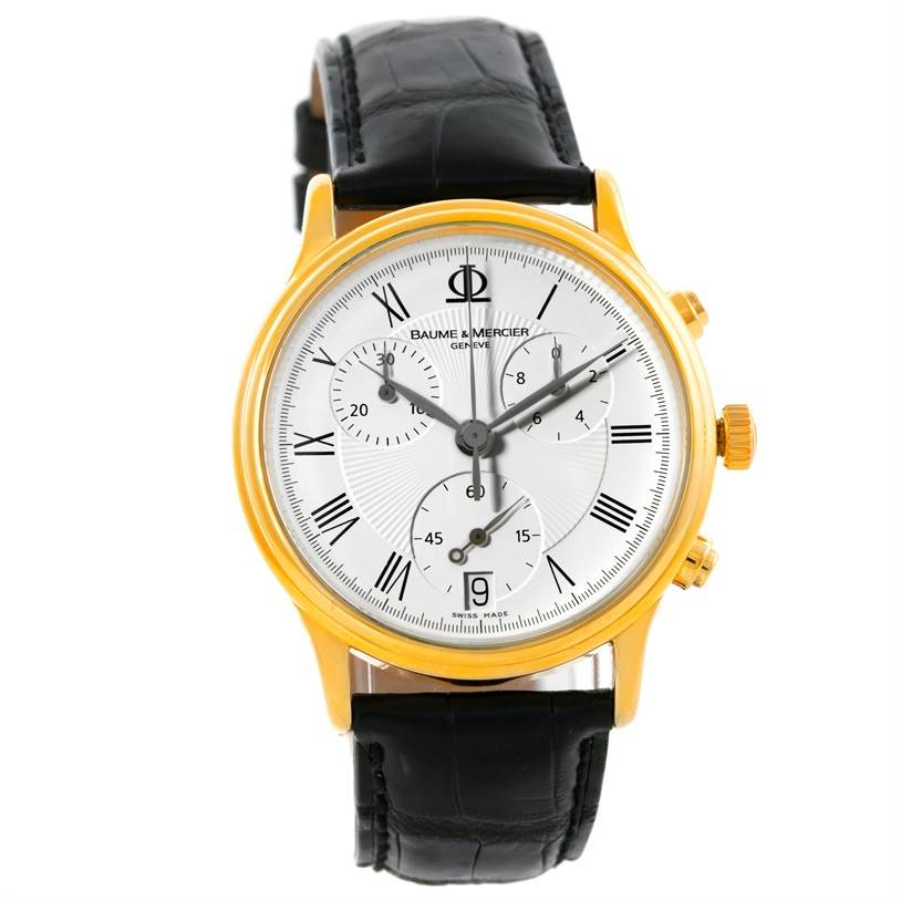 8621 Baume Mercier Classima Mens 18K Yellow Gold Chronograph Watch SwissWatchExpo