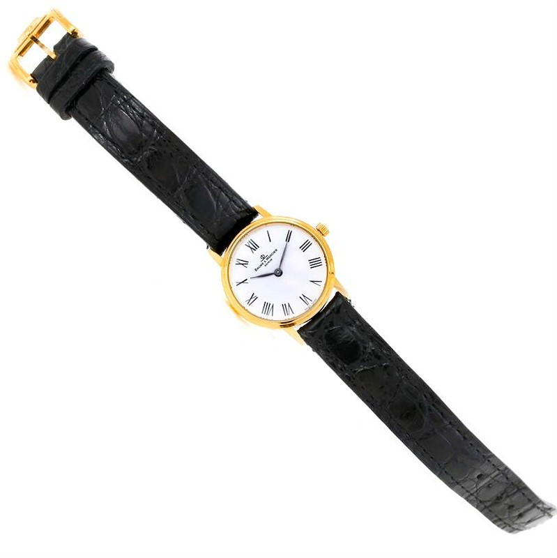 Baume Mercier Classima Ladies 18K Yellow Gold Quartz Watch MV045089 SwissWatchExpo