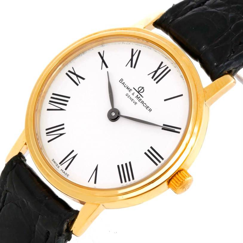 9615 Baume Mercier Classima Ladies 18K Yellow Gold Quartz Watch MV045089 SwissWatchExpo