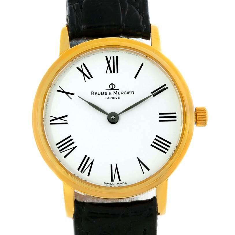 Photo of Baume Mercier Classima Ladies 18K Yellow Gold Quartz Watch MV045089