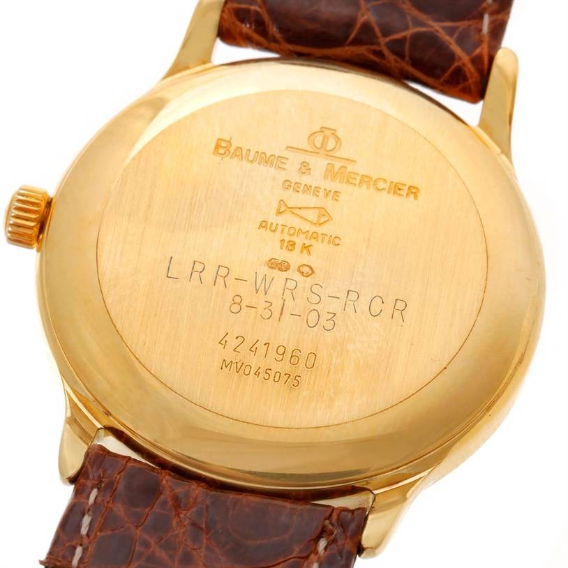 9628 Baume Mercier Classima Automatic 18K Yellow Gold Watch MV045075 SwissWatchExpo