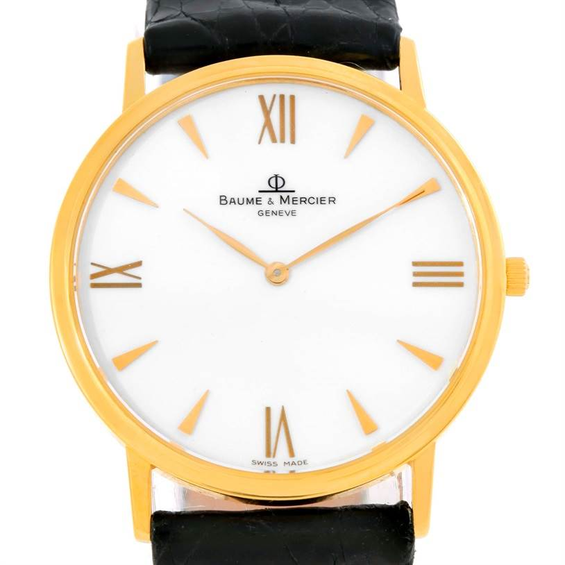 9809 Baume Mercier Classima 1830 18K Yellow Gold Quartz Watch MV045088 SwissWatchExpo