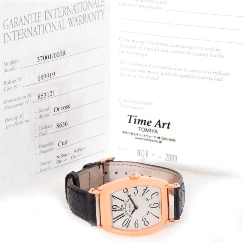 9981 Vacheron Constantin Historique Rose Gold Limited Edition Watch 37001 Box Papers SwissWatchExpo