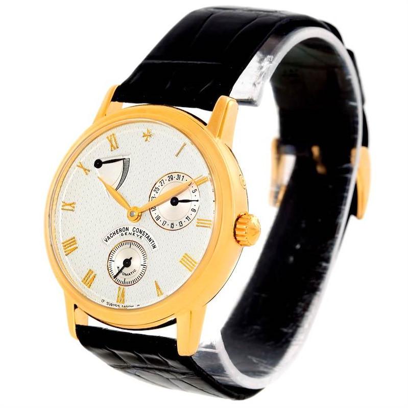 Vacheron Constantin Patrimony Date Power Reserve Gold Watch 47200/1 SwissWatchExpo