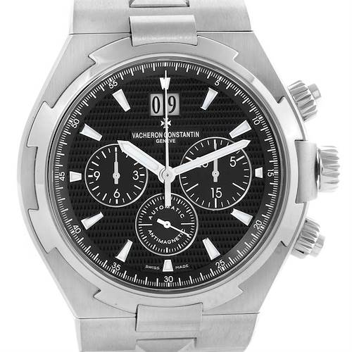 Photo of Vacheron Constantin Overseas Chronograph Black Dial Watch 49150 Unworn