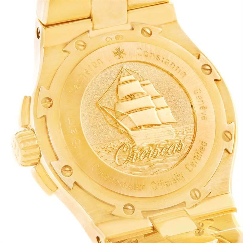 10474P Vacheron Constantin Overseas 18K Yellow Gold Watch 42050/423J SwissWatchExpo