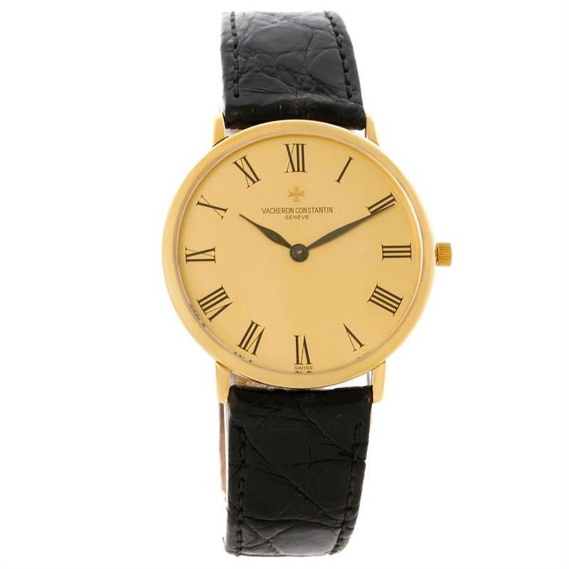 Vacheron Constantin 18K Yellow Gold Ultra Thin Mechanical Watch 33160 SwissWatchExpo
