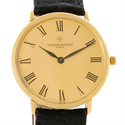 Photo of Vacheron Constantin 18K Yellow Gold Ultra Thin Mechanical Watch 33160