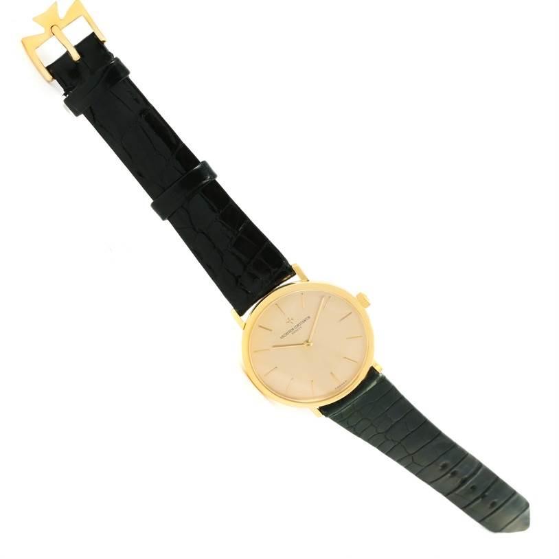 12531 Vacheron Constantin 18K Yellow Gold Ultra Thin Watch 37039 Box Papers SwissWatchExpo