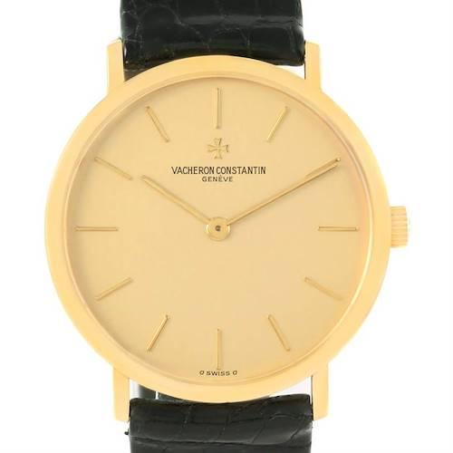 Photo of Vacheron Constantin 18K Yellow Gold Ultra Thin Watch 37039 Box Papers