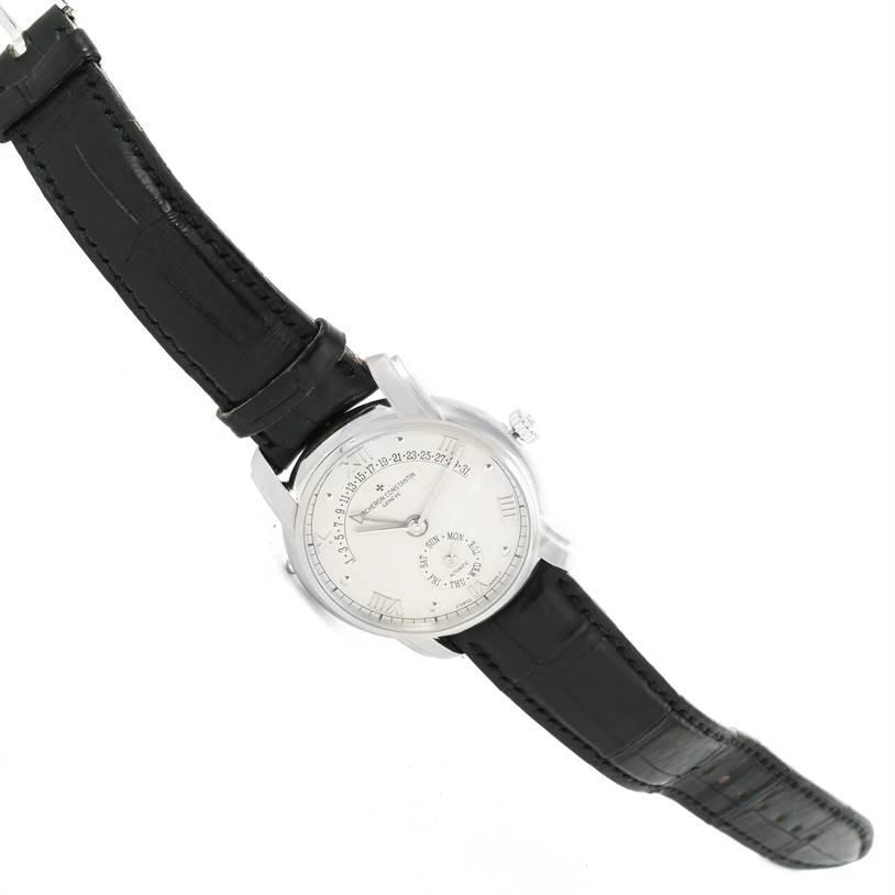 12702P Vacheron Constantin Patrimony 31 Day Retrograde White Gold Watch 47245 SwissWatchExpo