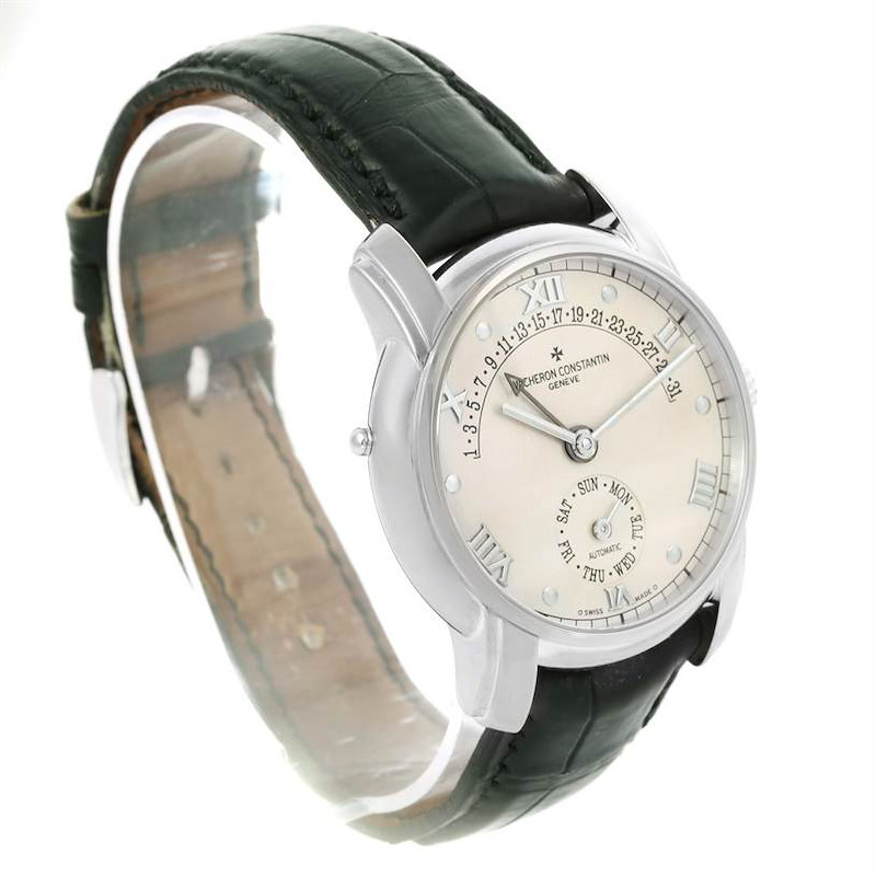 Vacheron Constantin Patrimony 31 Day Retrograde White Gold Watch 47245 SwissWatchExpo