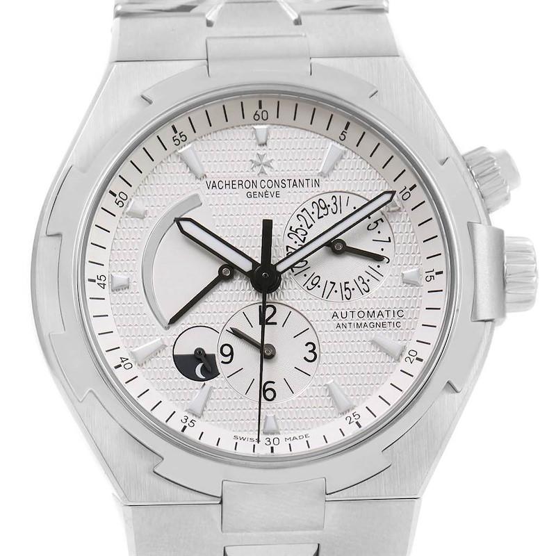 Vacheron Constantin Overseas Dual Time Silver Dial Watch 47450 Unworn SwissWatchExpo