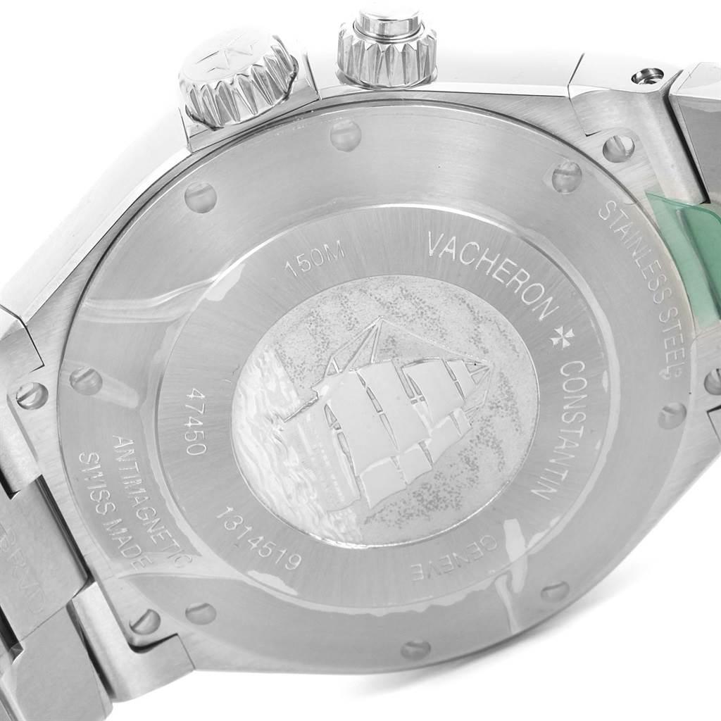 13993P Vacheron Constantin Overseas Dual Time Silver Dial Watch 47450 Unworn SwissWatchExpo