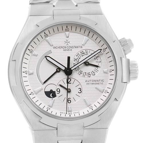 Photo of Vacheron Constantin Overseas Dual Time Silver Dial Watch 47450 Unworn