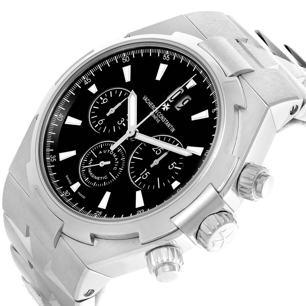 14420 Vacheron Constantin Overseas Chronograph Black Dial Watch 49150 SwissWatchExpo