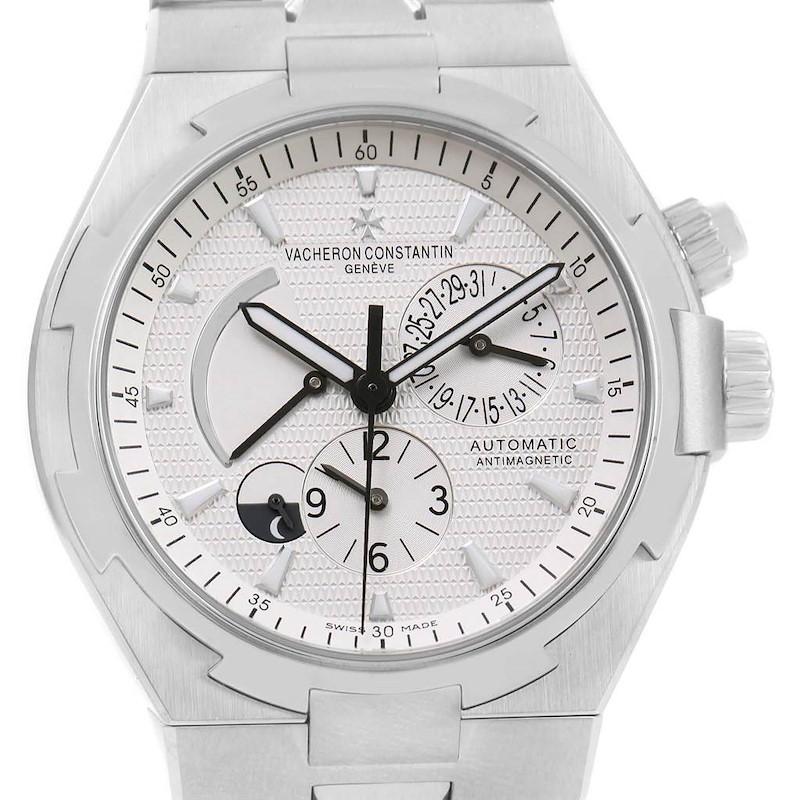 Vacheron Constantin Overseas Dual Time Silver Dial Mens Watch 47450 SwissWatchExpo