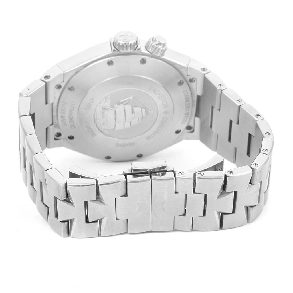 14592 Vacheron Constantin Overseas Dual Time Silver Dial Mens Watch 47450 SwissWatchExpo