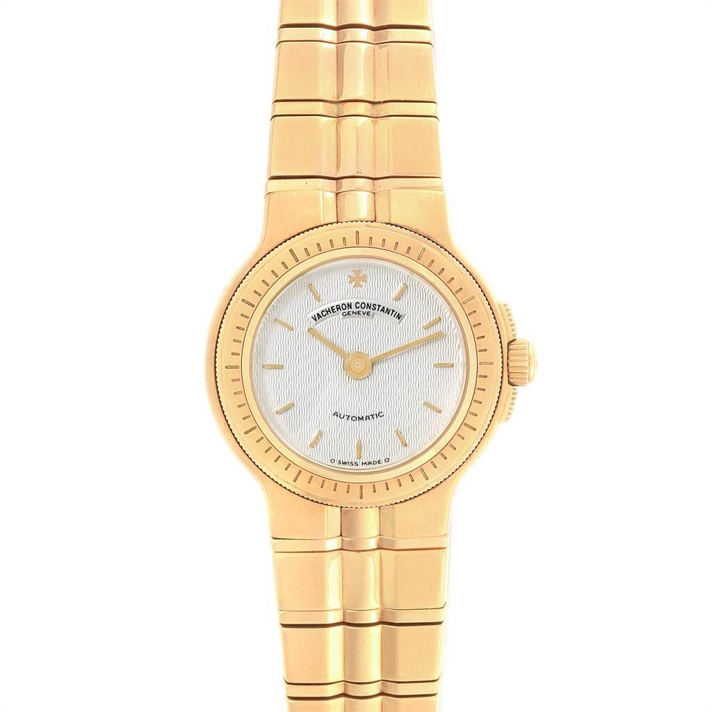 14887P Vacheron Constantin Phidias 18k Yellow Gold Silver Dial Ladies Watch SwissWatchExpo
