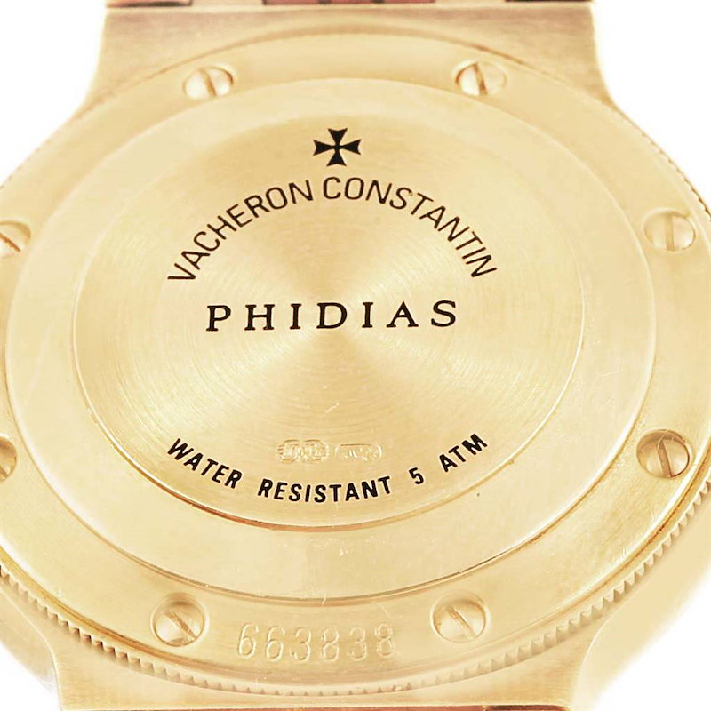 Vacheron Constantin Phidias 18k Yellow Gold Silver Dial Ladies Watch SwissWatchExpo