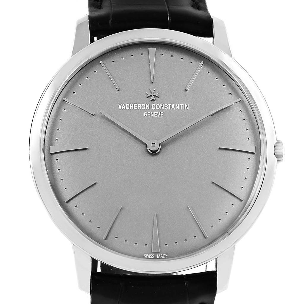 17210P Vacheron Constantin Patrimony Grand Taille 40mm Platinum Watch 81180 SwissWatchExpo