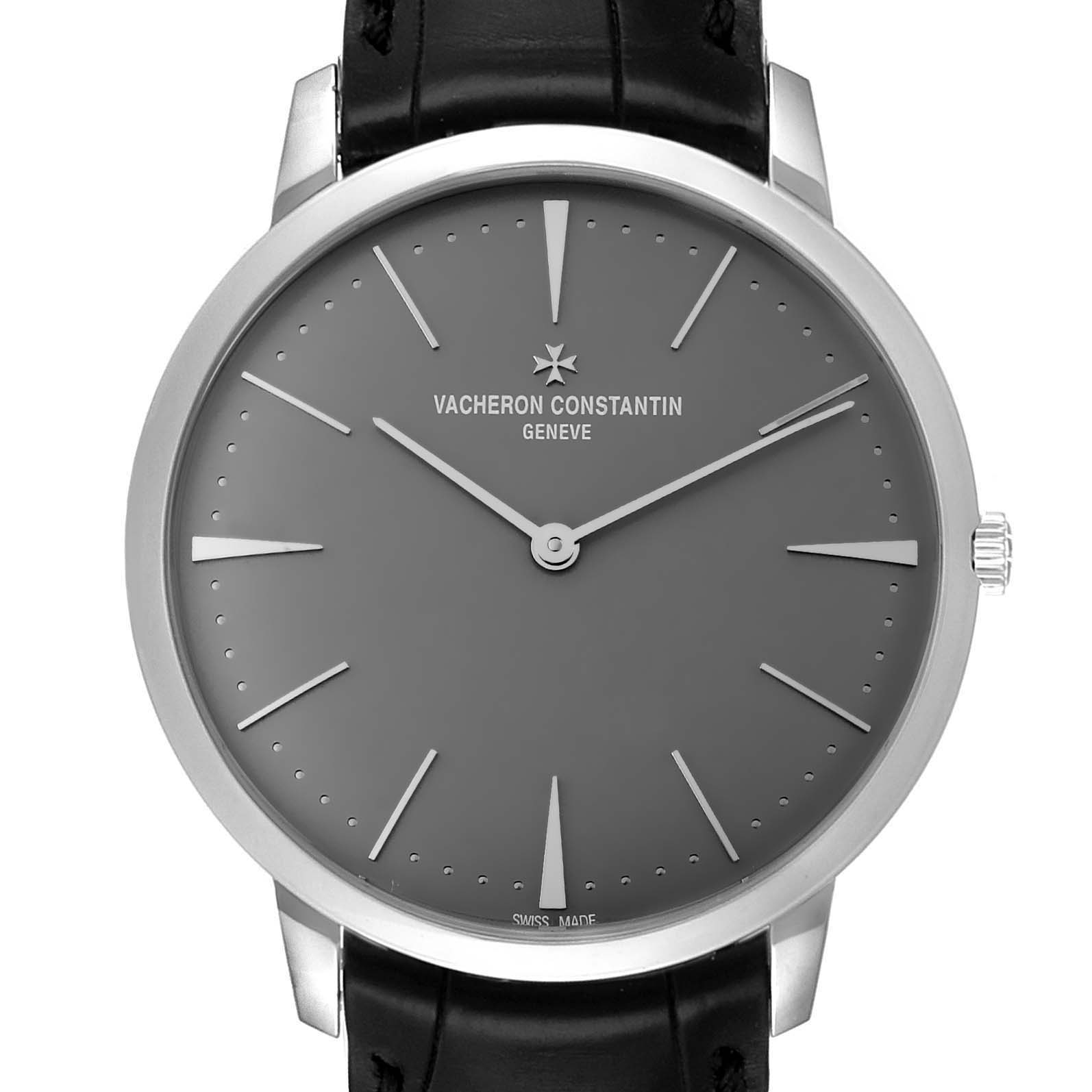 Vacheron Constantin Patrimony Grand Taille Platinum Watch 81180 Box Papers SwissWatchExpo