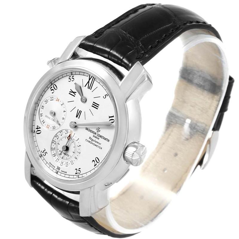 Vacheron Constantin Malte Regulateur Dual Time White Gold Watch 42005 SwissWatchExpo