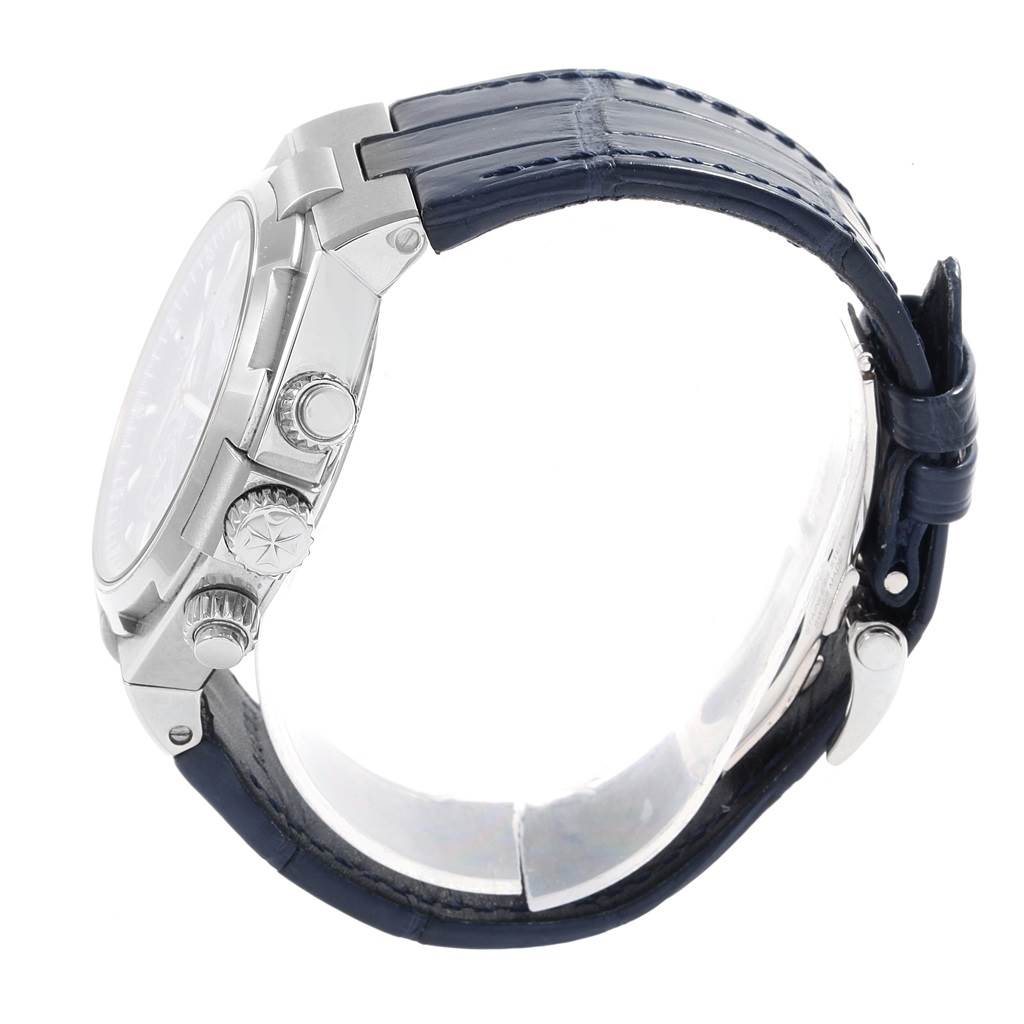 18257 Vacheron Constantin Overseas Chronograph Blue Dial Watch 49150 SwissWatchExpo