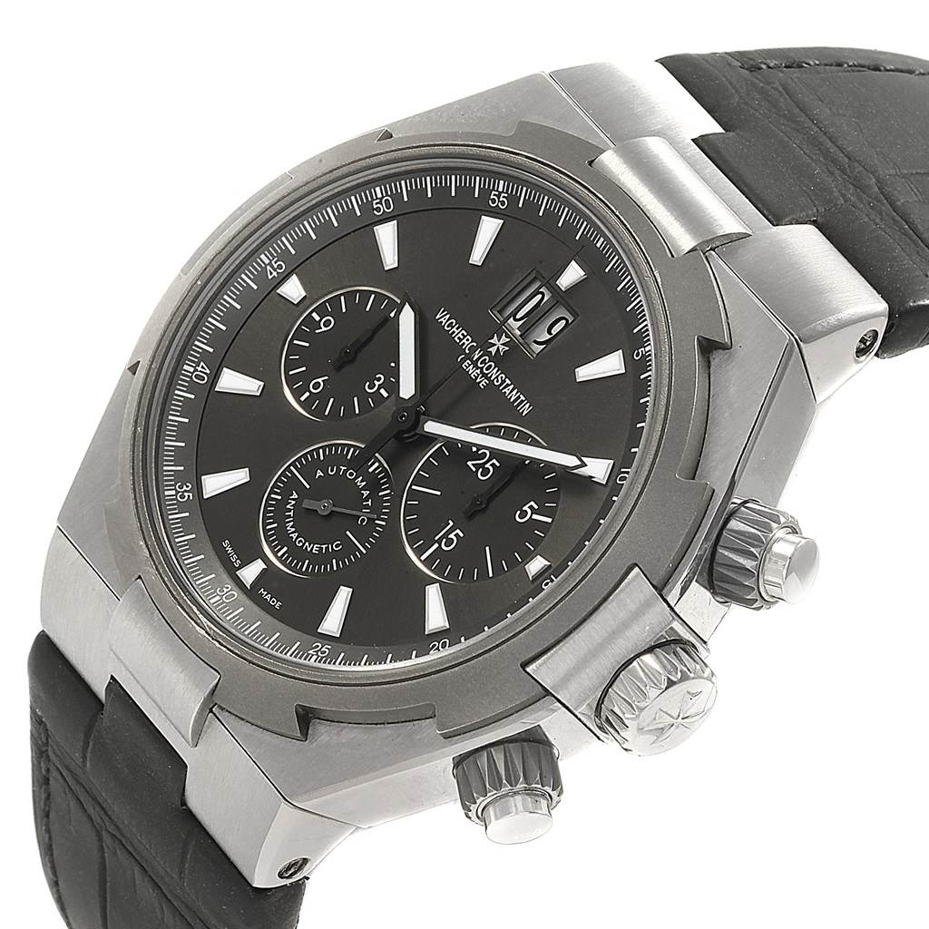 17458 Vacheron Constantin Overseas Deep Stream Chronograph Mens Watch 49150 SwissWatchExpo