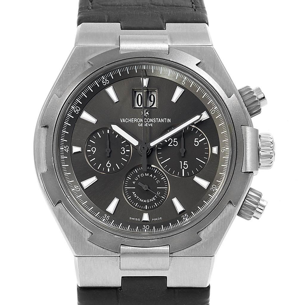 Vacheron Constantin Overseas Deep Stream Chronograph Mens Watch 49150 SwissWatchExpo