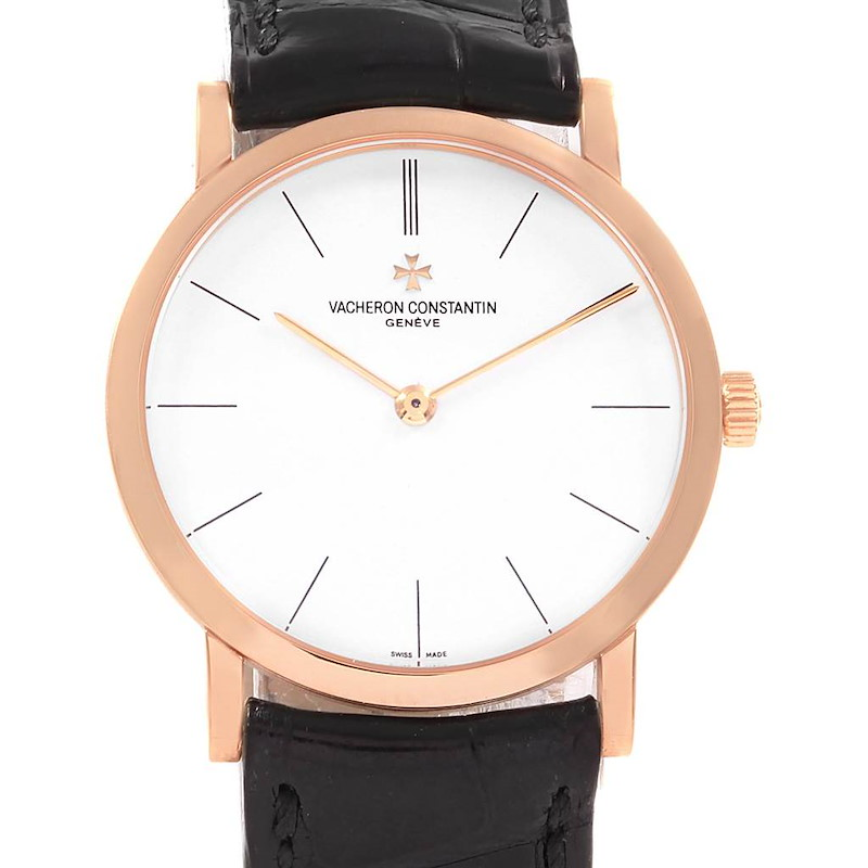 Vacheron Constantin Patrimony 18K Rose Gold Ultra Thin Mens Watch 33093 SwissWatchExpo