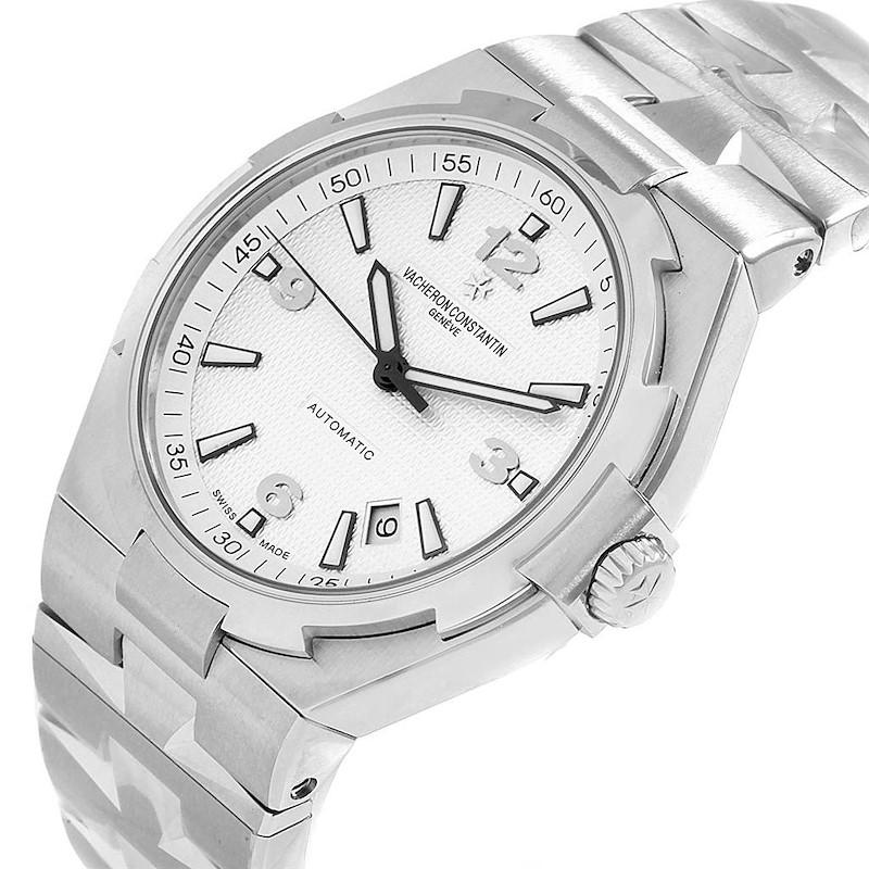Vacheron Constantin Overseas Silver Dial Steel Mens Watch 47040 Unworn SwissWatchExpo