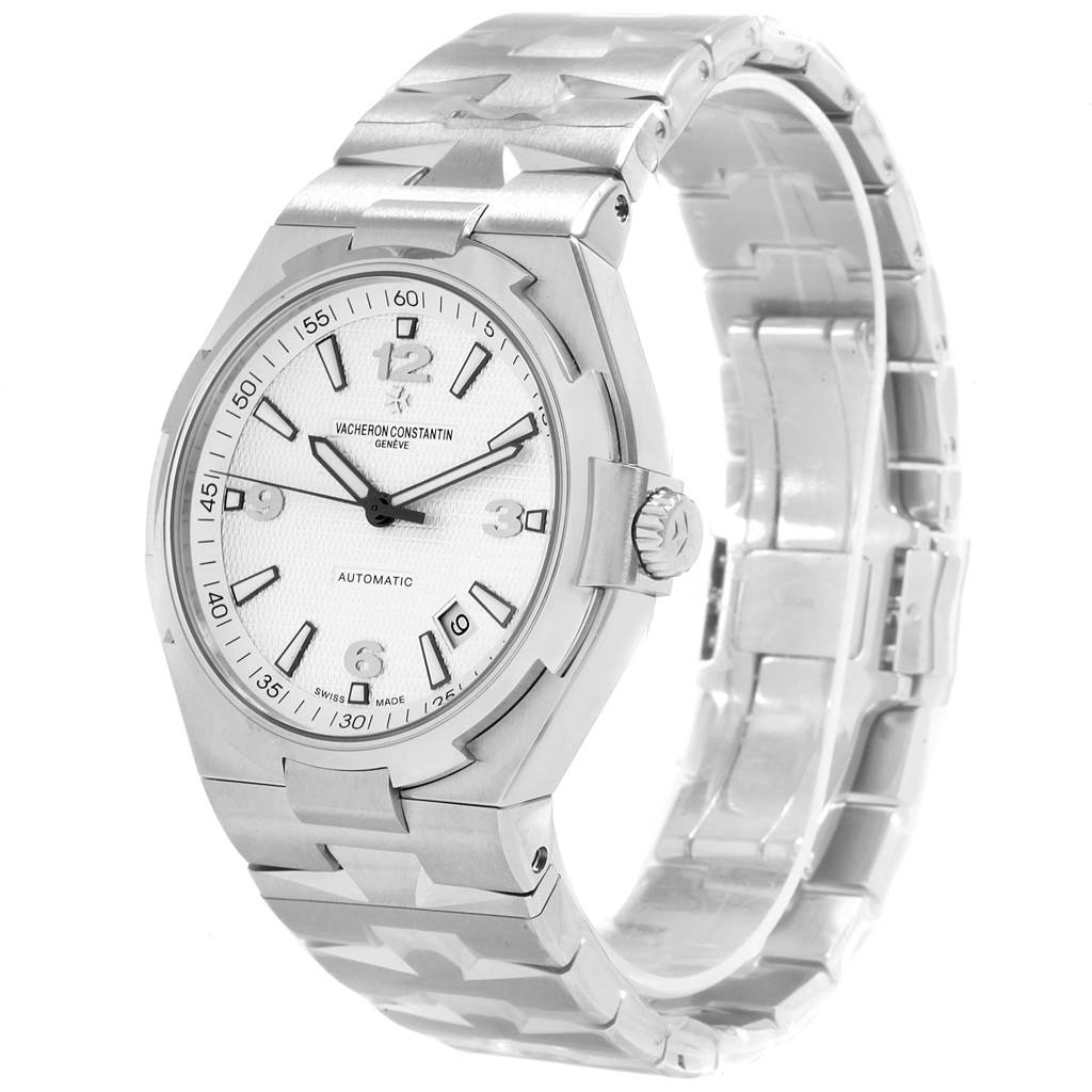 19485 Vacheron Constantin Overseas Silver Dial Steel Mens Watch 47040 Unworn SwissWatchExpo