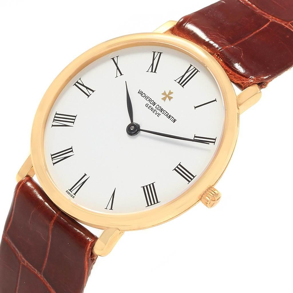 Vacheron Constantin Patrimony Yellow Gold Ultra Thin Mens Watch 31160 SwissWatchExpo
