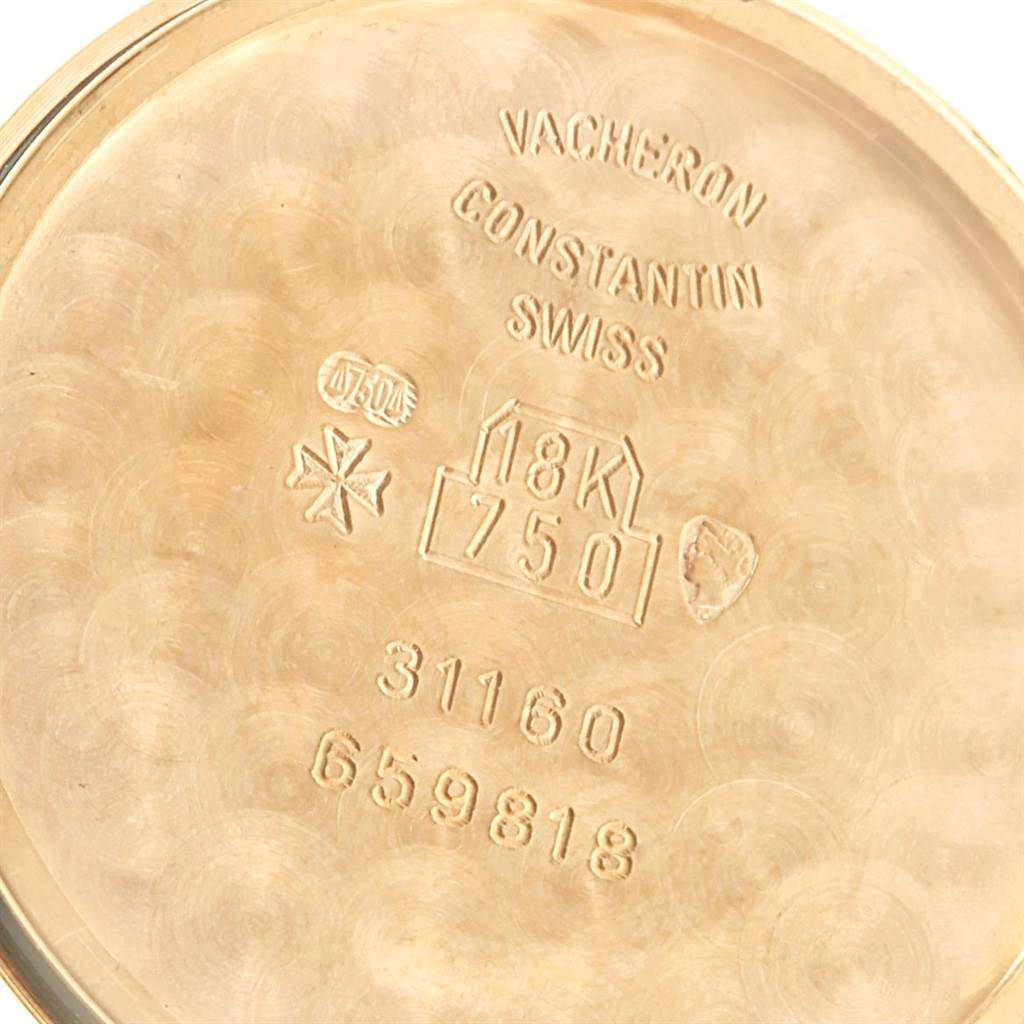 19696 Vacheron Constantin Patrimony Yellow Gold Ultra Thin Mens Watch 31160 SwissWatchExpo