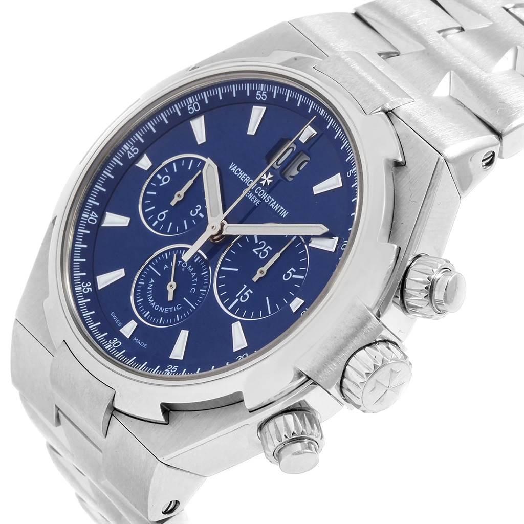 19941 Vacheron Constantin Overseas Chronograph Blue Dial Mens Watch 49150 SwissWatchExpo