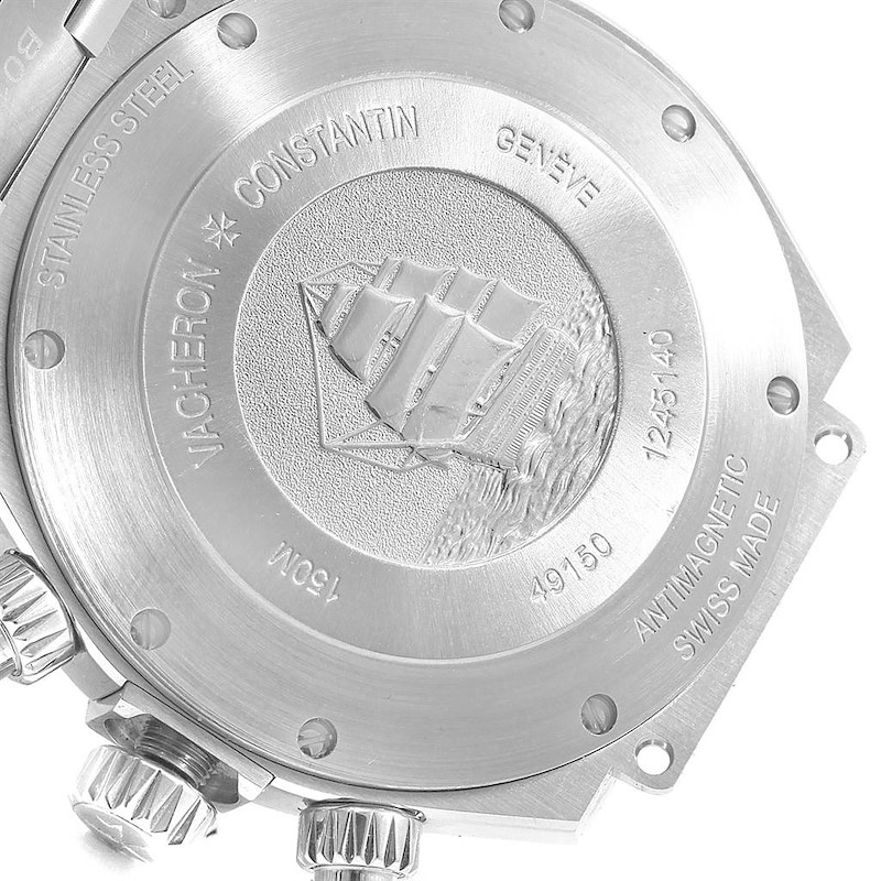 Vacheron Constantin Overseas Chronograph Blue Dial Mens Watch 49150 SwissWatchExpo