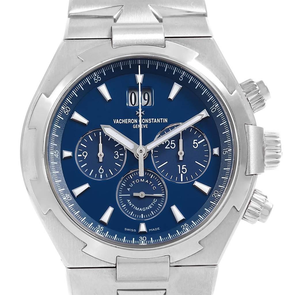 Photo of Vacheron Constantin Overseas Chronograph Blue Dial Mens Watch 49150