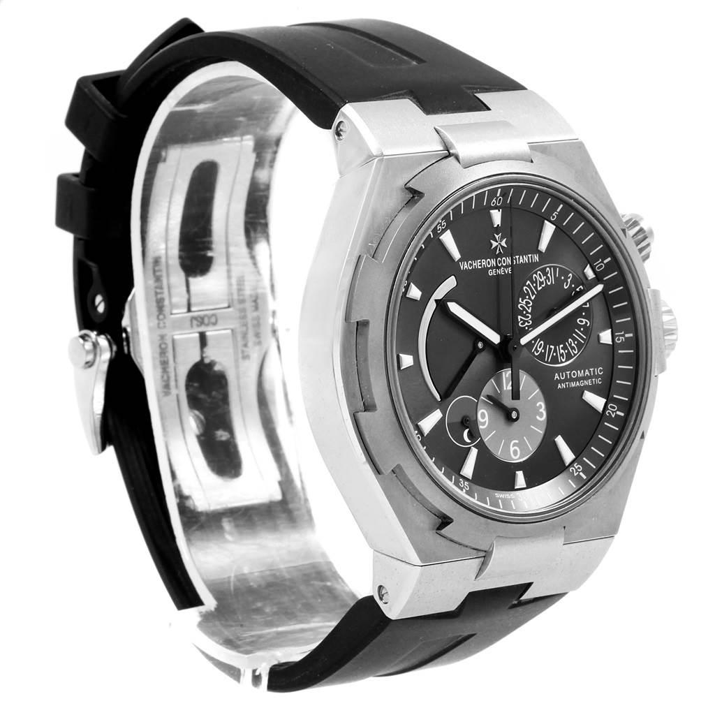 20477 Vacheron Constantin Overseas Dual Time Grey Dial Mens Watch 47450 SwissWatchExpo