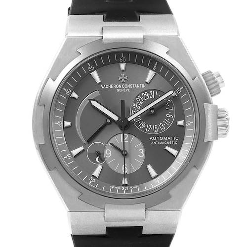 Photo of Vacheron Constantin Overseas Dual Time Grey Dial Steel Mens Watch 47450