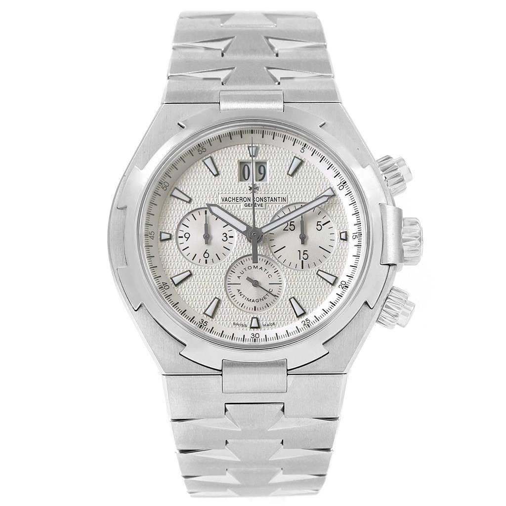 Vacheron Constantin Overseas Chronograph Silver Dial Watch 49150 SwissWatchExpo