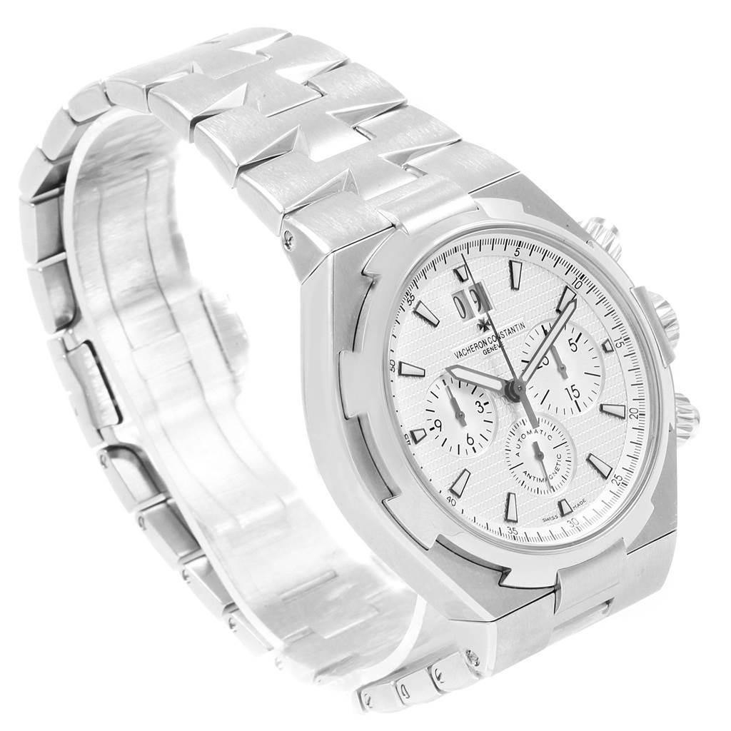 20887 Vacheron Constantin Overseas Chronograph Silver Dial Watch 49150 SwissWatchExpo