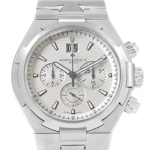 Photo of Vacheron Constantin Overseas Chronograph Silver Dial Watch 49150