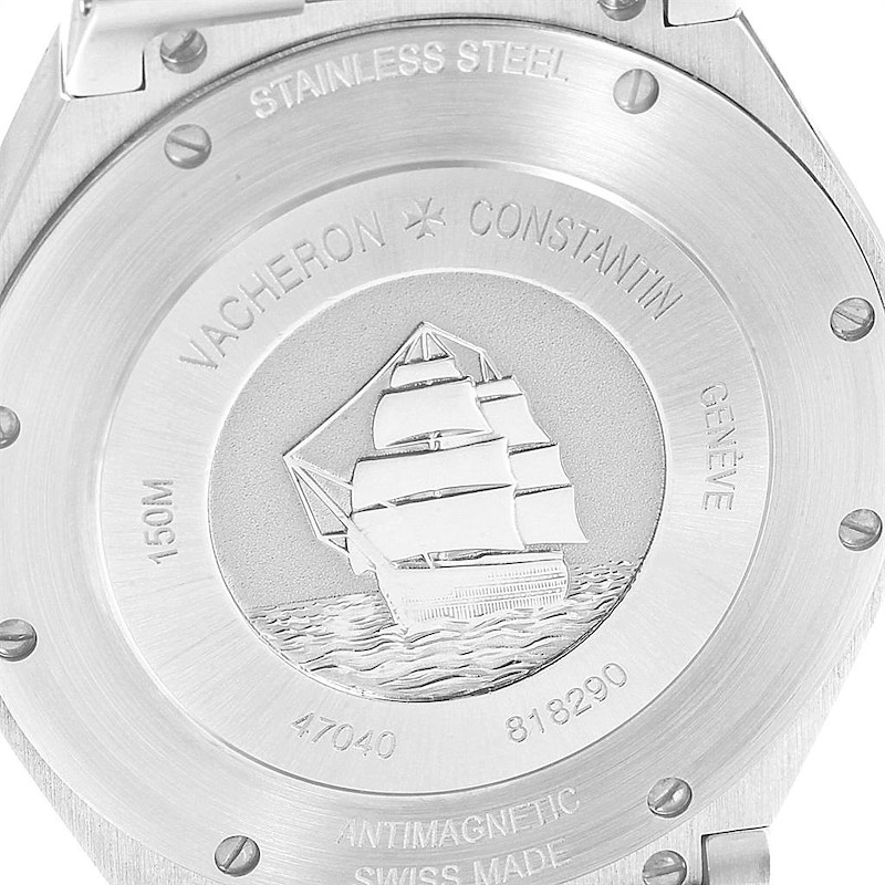Vacheron Constantin Overseas Steel Mens Watch 47040 Box Papers SwissWatchExpo